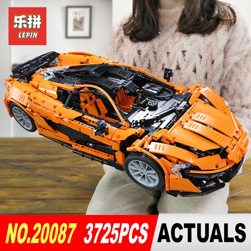 DHL Lepin 20087 Technique Jouets La MOC-16915 Orange Super Voiture De Course Mis Blocs de Construction Briques Assemblé BRICOLAGE De Noël Cadeaux