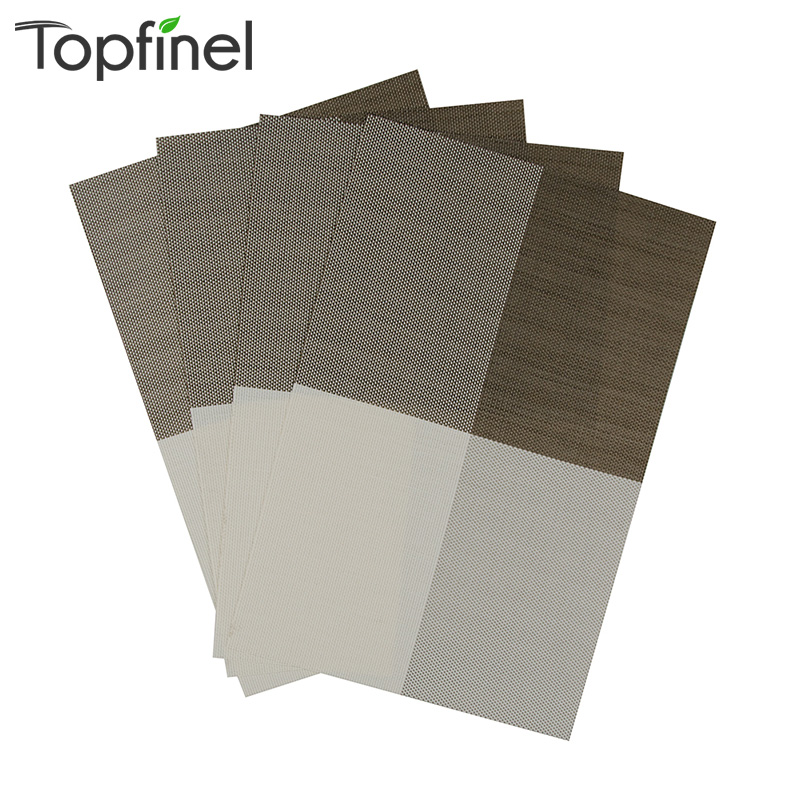 Top Finel 2016 Set Of 4 Pvc Color Block Placemats For
