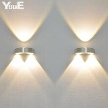 Белый/желтый белый/теплый бра холодный спальня настенный крытый светильник светодиодный украшения свет
