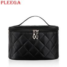 PLEEGA Brand Women Cosmetic Bag High Quality Leisure Portable Make Up Bags Travel Makeup Wash Supplies Organizer Bag Storage Bag