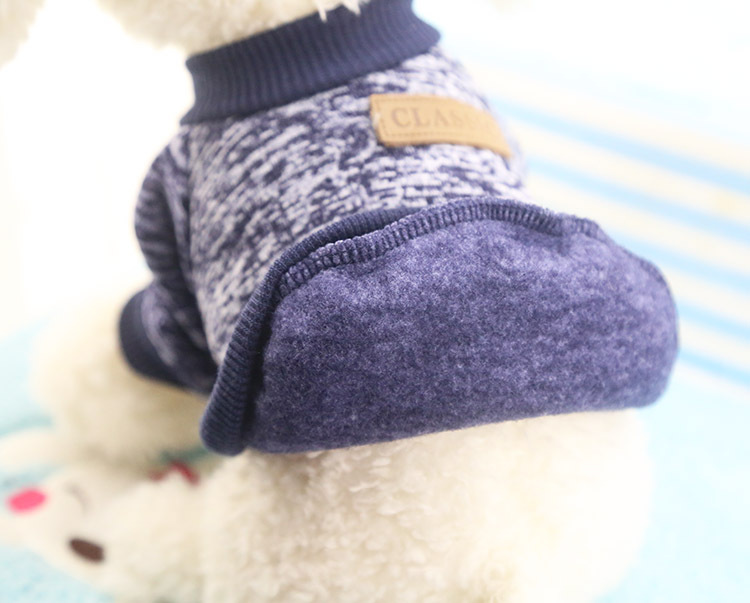 Classic Warm Dog Clothes Puppy Pet Cat Jacket Coat Winter Fashion Soft Sweater Clothing For Small Dogs Chihuahua XS-2XL 25S1 9