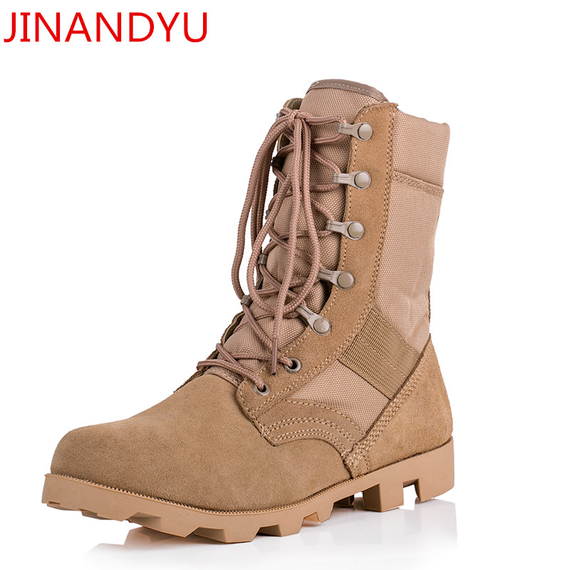 Summer Combat Tactical Boot Military Boots Black Sand Jungle Camouflage Color Climbing Wearable Boots Breathable Safety Shoes