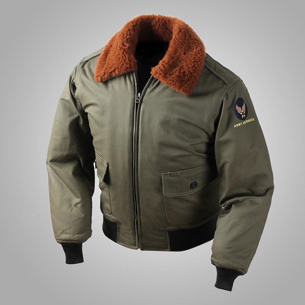 Design; 2019 Fashion 2018 Usaf Army Ww2 Vintage Polit B-15 Flight Bomber Jacket Military Usaaf Winter B15 Mod Coat For Men Novel In