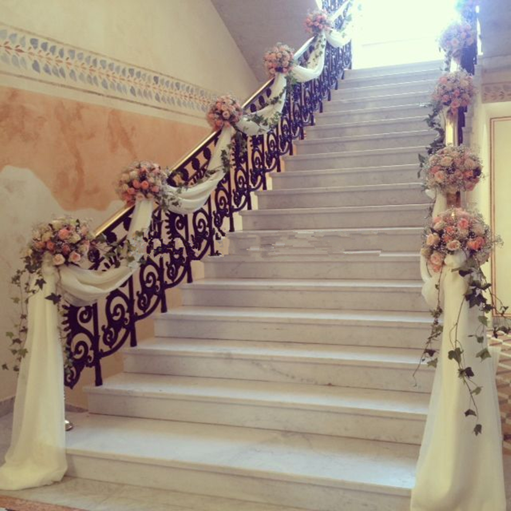 4 Diy Decorating Ideas For A Staircase: High Quality Organza Roll Swag For Wedding Party Decor 75