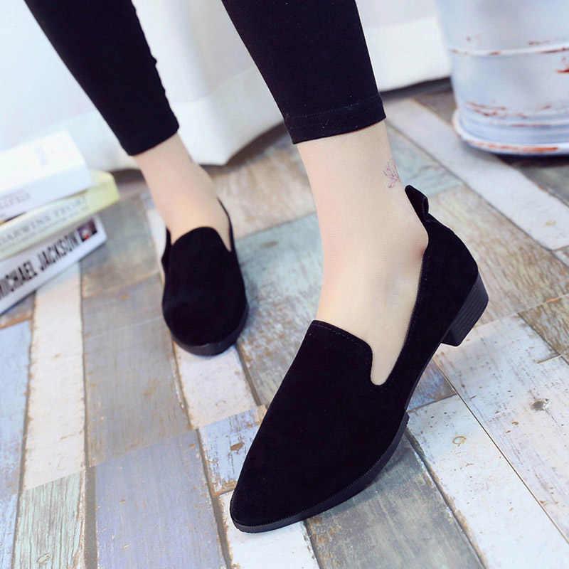 Moda feminina sapatos de salto alto sapatos de salto alto deslizamento em plataforma sólida conforto calçados