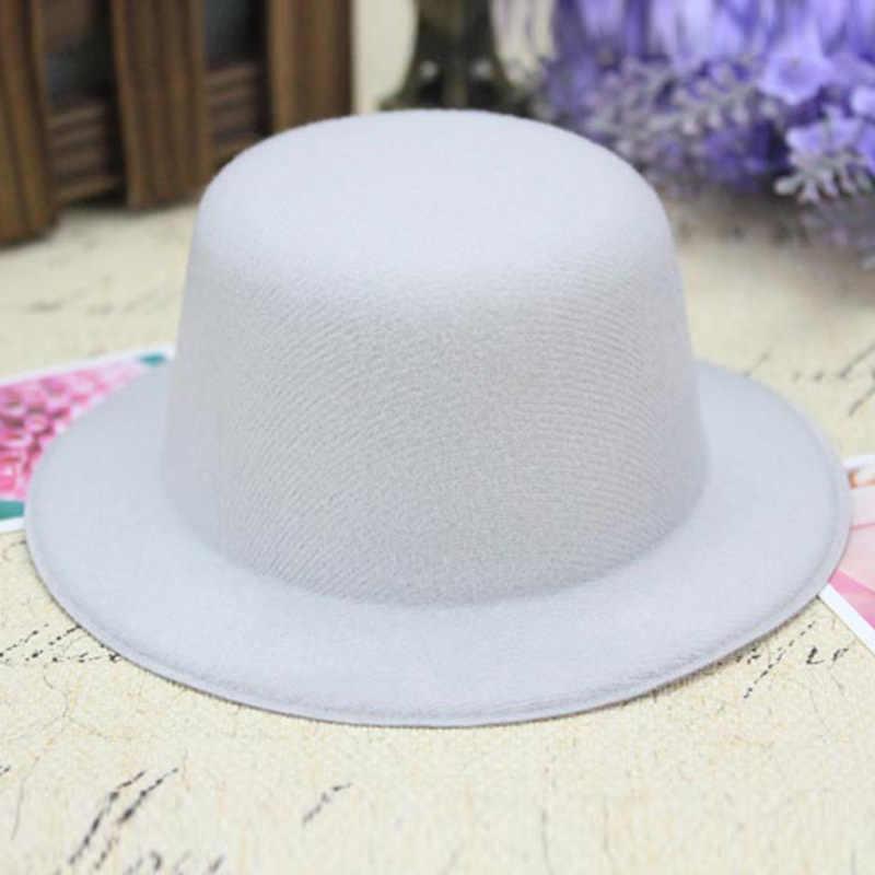 42263cb3de854 ... FGHGF 10pcs lot Mini Top Hat for Children Fascinator Millinery Hat Base  Solid Man Women ...