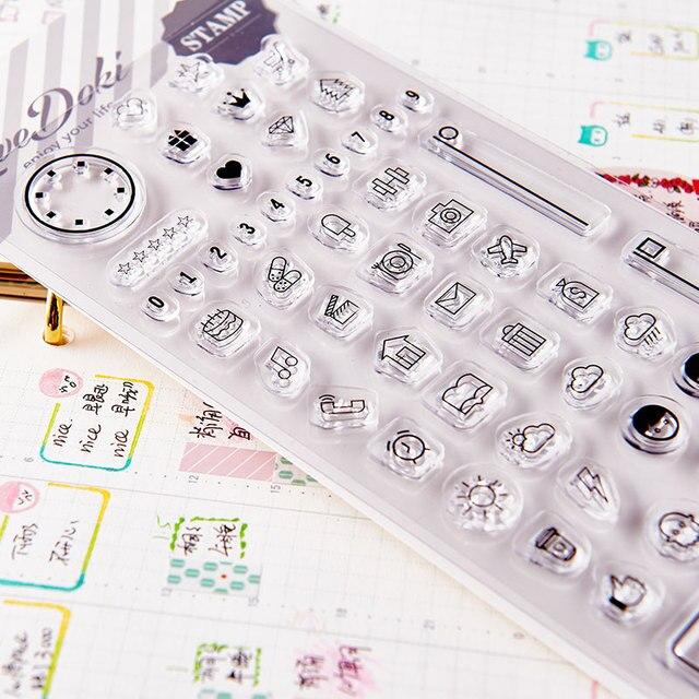 Dokibook livraison gratuite 2019 nouveau fait maison bricolage transparent timbre sceau scrapbook agenda agenda bricolage pièces de rechange créatif mignon