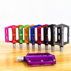 Image 4 - Novità mountain bike 8 colori pedali bici da strada in lega pedali bici ultraleggeri MTB accessori bici