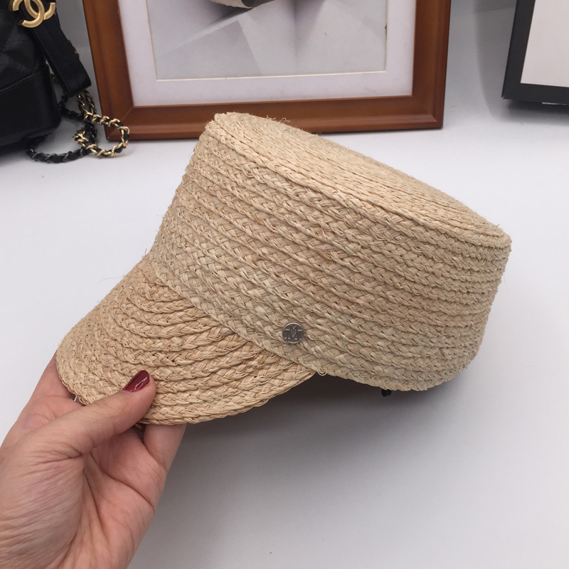 Spring flat straw equestrian cap M standard baseball cap hat sun hat sunscreen hats for men and women fashion and personality stetson men s breakers premium shantung straw hat
