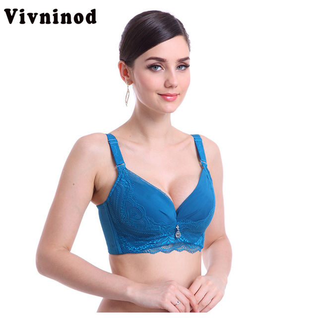 01b6515539e46 New underwire convertible straps sexy womens lace support push up bra deep push  up jpg 633x640