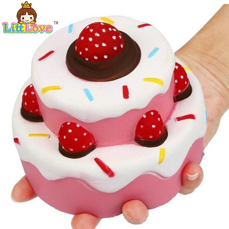 Sweet Mochi Squishy Jumbo Strawberry Cake Scented Super Slow Rising Toy Kids Cute Squeeze Toy Gags Ppractical Jokes Toys