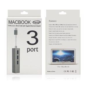 Image 5 - GOOJODOQ USB C концентратор гигабитный Ethernet Rj45 Lan адаптер USB Type C к USB 3,0 концентратор 10/100/1000 сетевая карта для MacBook ChromeBook