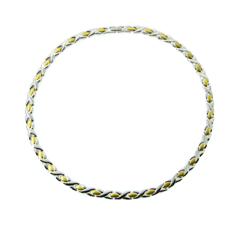2017 Új divat rozsdamentes acél nyakék Germánium Power Egészség - Divatékszer