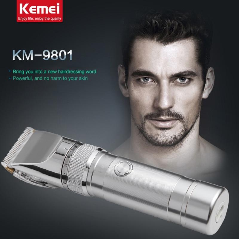 2018 Kemei nouveau coupe-cheveux en céramique électrique tondeuse tondeuse Rechargeable rasoir rasoir sans fil réglable tondeuse coupe de cheveux