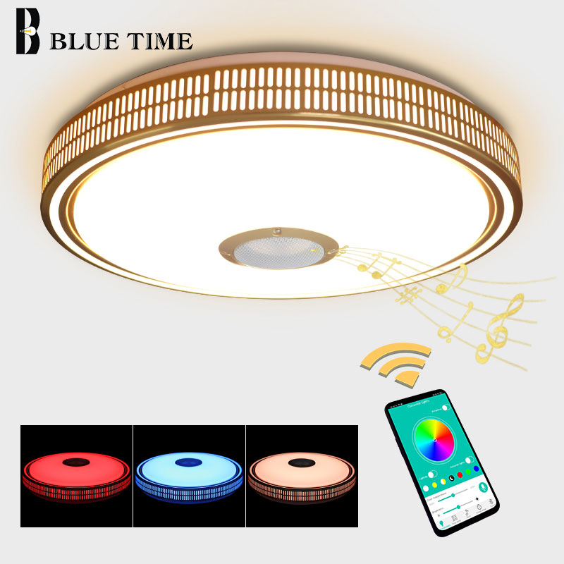 Modern Smartphone APP Controlling LED Chandeliers For Dining Room Bedroom Living Room Golden Finished LED Chandeliers LightingModern Smartphone APP Controlling LED Chandeliers For Dining Room Bedroom Living Room Golden Finished LED Chandeliers Lighting