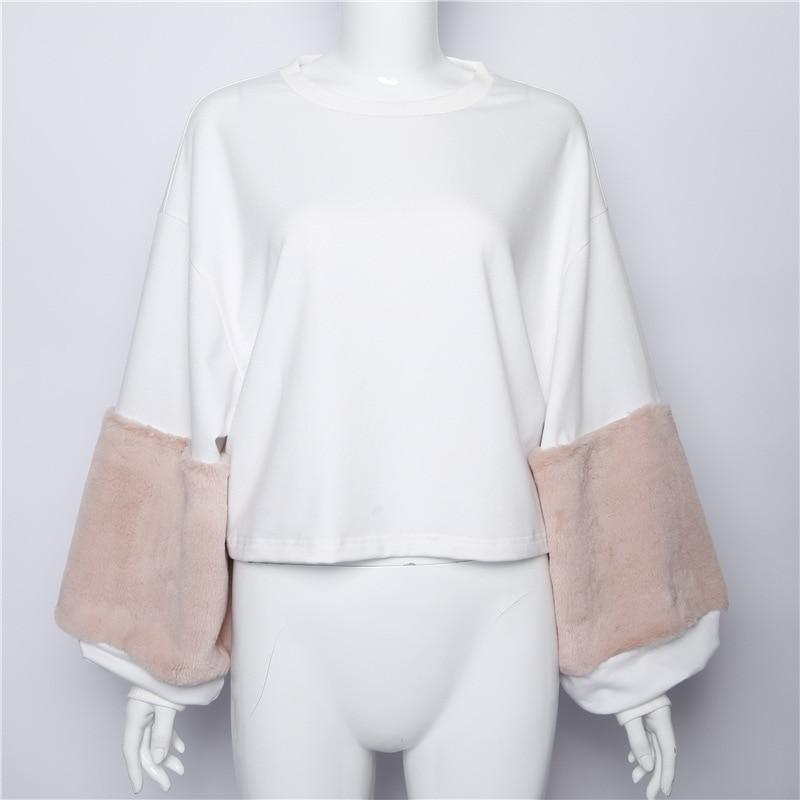 HTB1R8ZgSXXXXXcfXFXXq6xXFXXXD - FREE SHIPPING Women Faux Fur Crop Hoodies Sweatshirt Tumblr Oversize Pink JKP282