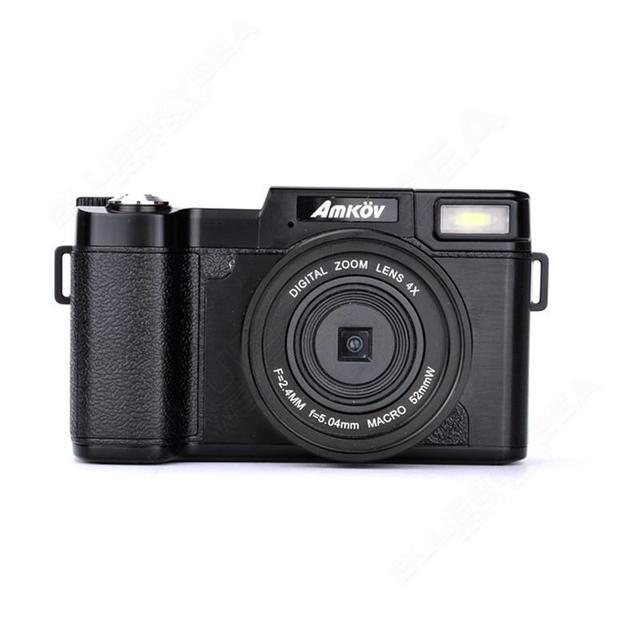 AMKOV 1080P AMK-R2 24MP HD Digital SLR Camera Camcorder+Macro Lens Recording 4x Zoom 3.0″ TFT