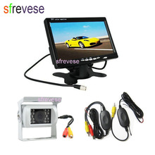 Camera Lcd-Monitor Parking-System Car-Rear-View-Kit Reversing-Backup Wireless White 18