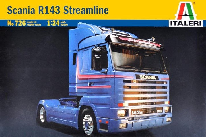Out of print! ITALERI 1/24 Scania R143 Streamline Tractor Cab (Special Edition) KIT ITL726