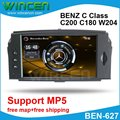 6.2 Car DVD GPS Player for BENZ C Class C200 C180 W204 2008-2010 with MP5 Function Free Shipping+Free Card with Map!!!