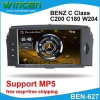 6.2 Car DVD GPS Player for BENZ C Class C200 C180 W204 2008 2010 with MP5 Function Free Shipping+Free Card with Map!!!