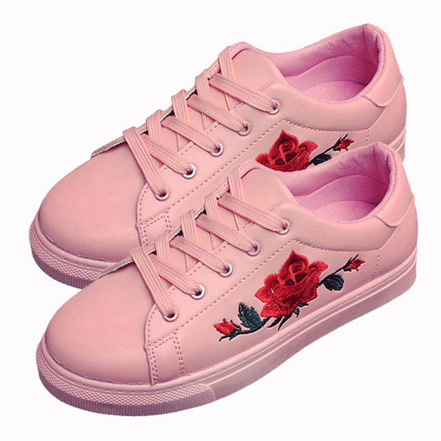 2018 spring women flats shoe flowers embroidery shoes waterproof platform floral flats lace up casual white shoes female in womens flats from shoes 2018 spring women flats shoe flowers embroidery shoes waterproof platform floral flats lace up casual might