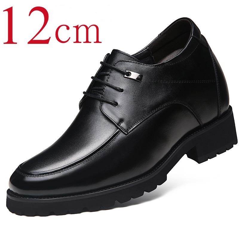 Extra High 4.7 Inches Classic Oxford Calf Leather Height Increasing Elevator Shoes Increase Mens Height 12CM Invisibly ...