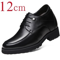 7ce4fa6e36a8 Extra High 4.7 Inches Classic Oxford Calf Leather Height Increasing  Elevator Shoes Increase Men s Height 12CM
