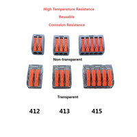 Wago Connector 222 Series 10PCS Cage Spring Universal Connector Fast Wire Wiring Conductors Terminal Block China
