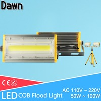 LED Flood Light 50W 100W 150W Real Power Floodlight LED Street Lamp IP65 AC 185 265V