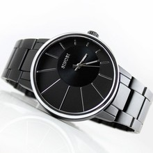 2016 Top Hot sale SINOBI Relogio Masculino Stainless Steel Black Quartz dress Watches Men Luxury Brand
