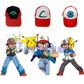 Anime POKEMON Ash Ketchum Adjustable Curved Visor Hat Baseball Cap Halloween Cosplay Costume props 3 Style to Choose