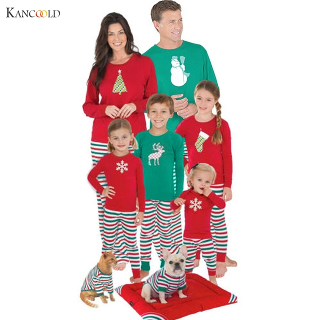adult women men christmas xmas pajamas sets sleepwear nightwear family sets pyjama femme 2017 girls boys - Boys To Men Christmas