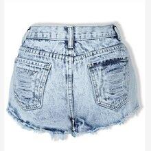 Womens Skinny Ripped Denim Loose Blue Distressed Tassel Plus Size Vintage High Waist Shorts Punk Sexy Short Jeans Summer