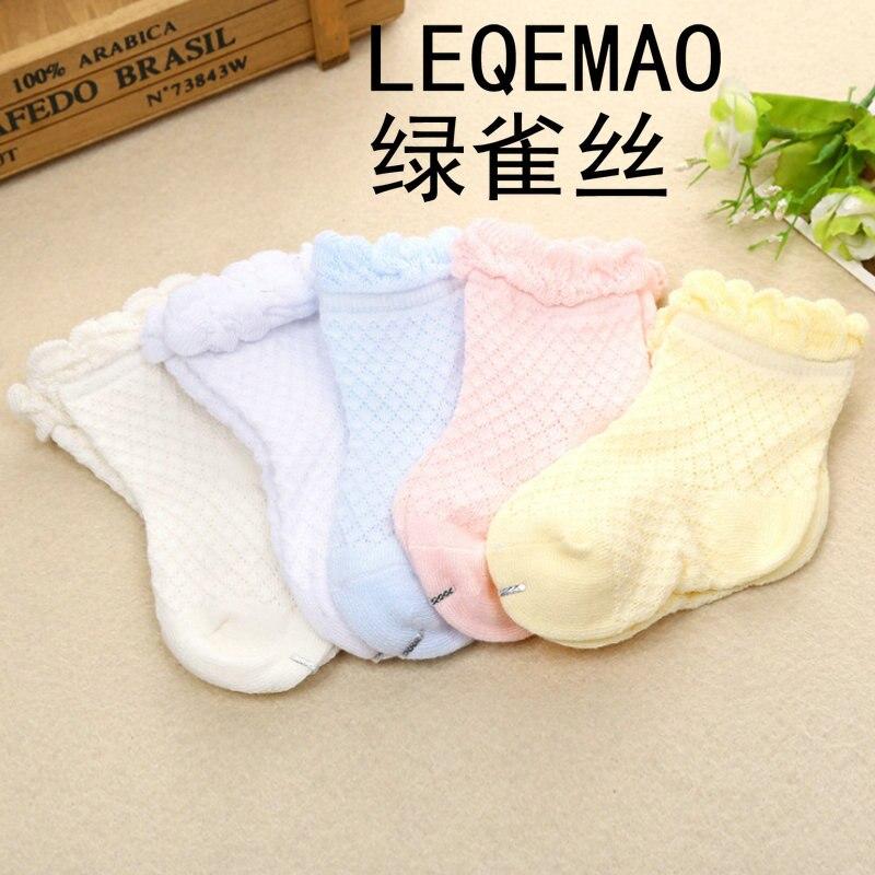 2018 Горячие 270B-01-02 дышащая Летний стиль Детские носки из хлопка для новорожденных Одежда для малышей