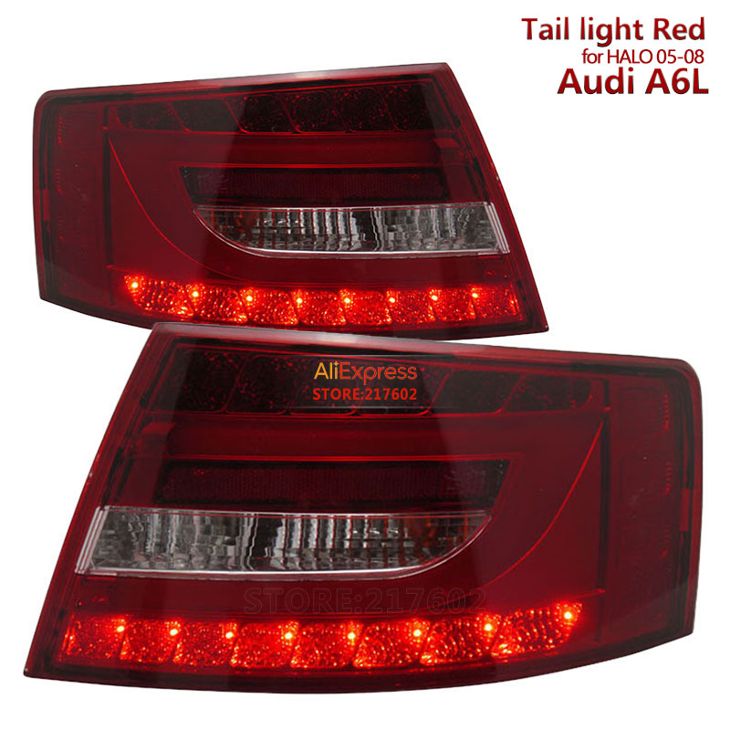 for Audi A6 A6L LED Tail lights fit 2005-2008 year models for Original Halogen models Red Housing Ensure quality and fitment