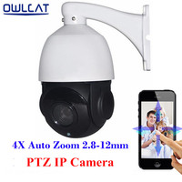 Hi3516C SONY IMX222 HD 1080P Mini Speed Dome PTZ IP Camera 4X Zoom 2 0MP Onvif
