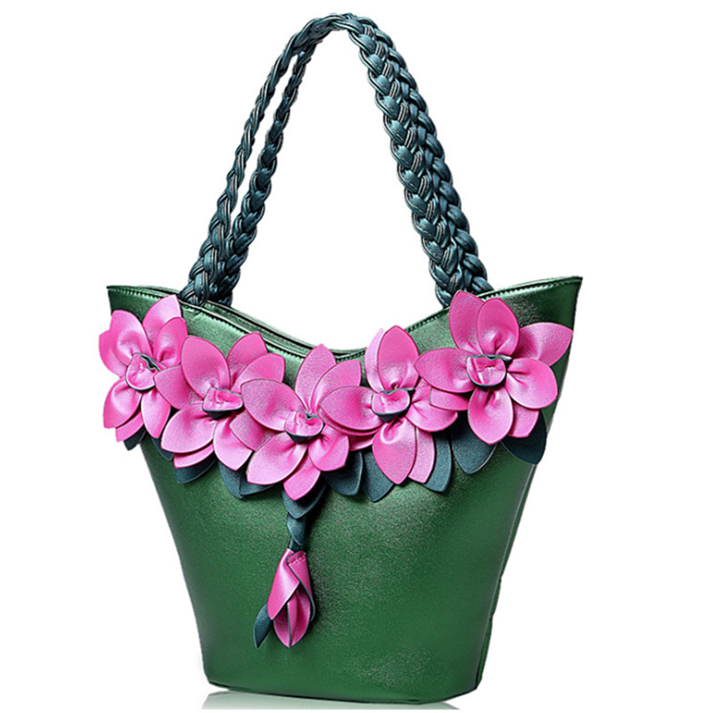 Patent Leather Women Handbag Women Shoulder Bags Classy Flower Women Leather Handbags Tote Female Women Bag Elegant patent leather handbag shoulder bag for women