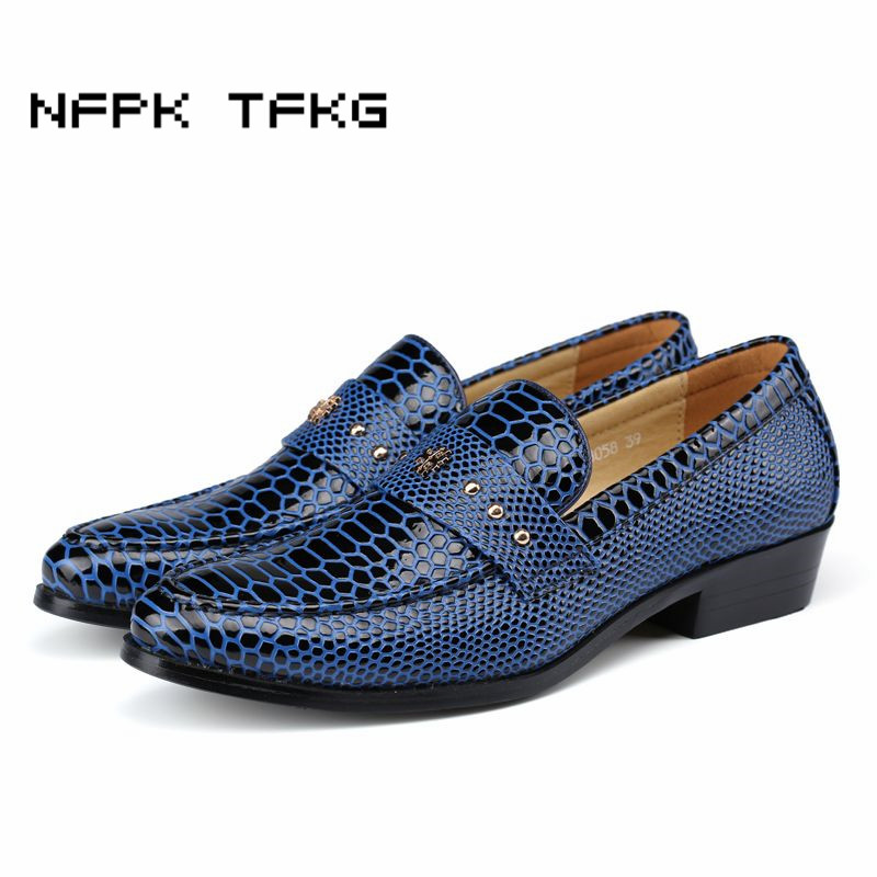 mens British fashion wedding party dresses soft cow leather shoes alligator grain flats oxfords shoe slip on comfortable loafers men cow split leather shoes casual loafers soft and comfortable oxfords non slip flats luxury brand designer shoe zapatos hombre