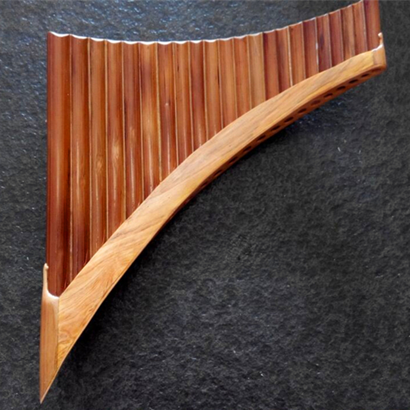 22 Pipes Professional Bamboo Pan Flute Handmade Panflute Panpipes Flauta Xiao Woodwind Musical Instrument Panflutes Xiao C/G Key double 16 pipes 32 tone pan flute easy learning panflute