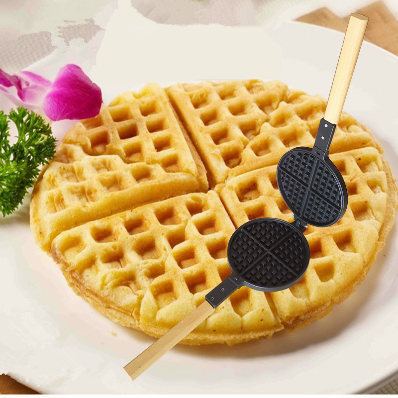 Waffle Pan Maker Electric Cooker Waffle Furnace Templates Household Waffle Waffles Cake Die Embossed Egg Sauce Cakes directly factory price commercial electric double head egg waffle maker for round waffle and rectangle waffle