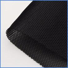 רמקול אבק בד גריל סטריאו מסנן בד רשת אודיו רמקול תיבת Dustproof גריל בגדים # שחור 1.4x0.5m