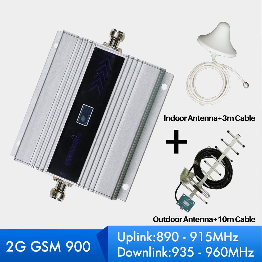 60dB Gain 2G GSM Repeater 900mhz GSM Signal Booster Mobile Cellular Amplifer with Antenna full Set for Home Office use60dB Gain 2G GSM Repeater 900mhz GSM Signal Booster Mobile Cellular Amplifer with Antenna full Set for Home Office use