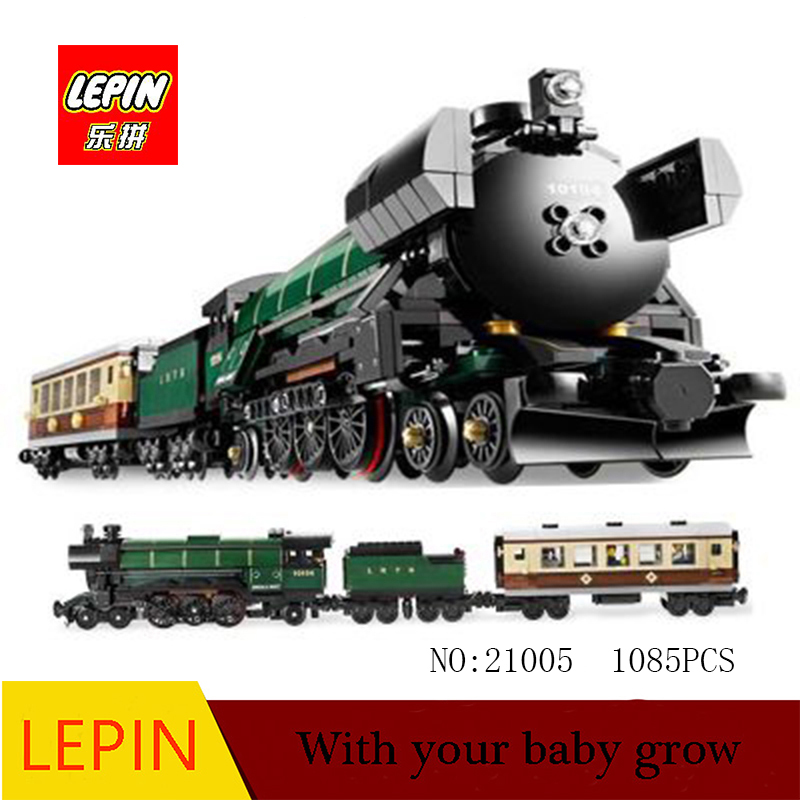 LEPIN Technic Series Lepin 21005 The Emerald Night model building blocks set Classic compatible Steam trains Toys Christmas Gif 2016 new lepin 21005 creator series the emerald night model building blocks set classic compatible legoed steam trains toys