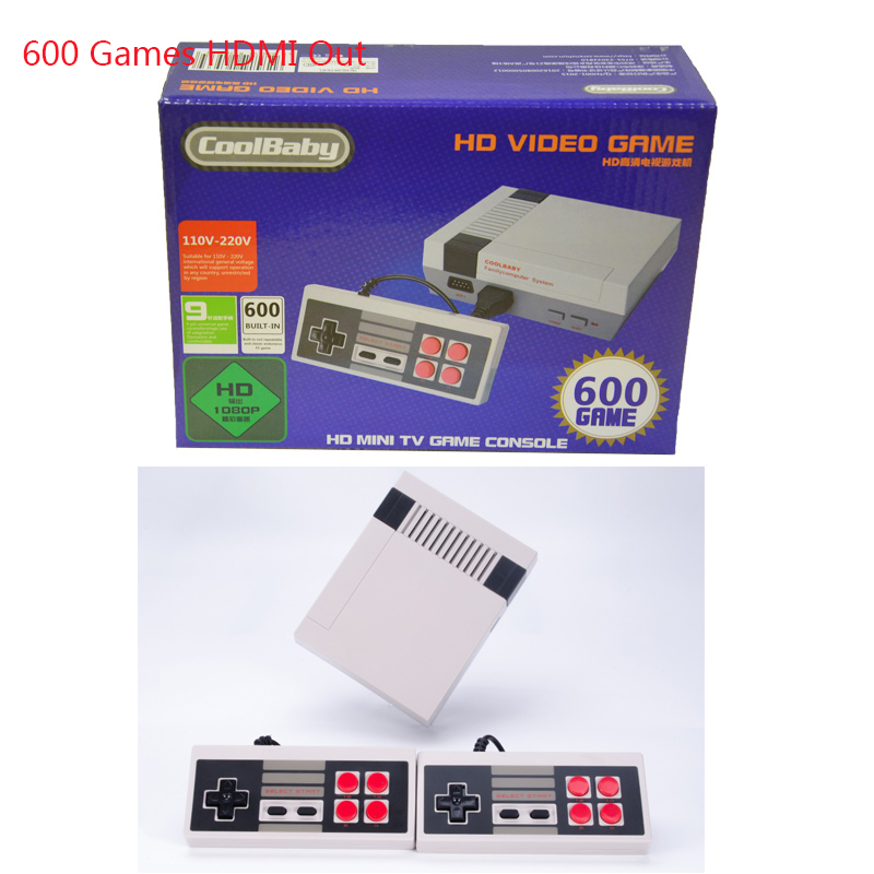 Hava RS-38 Coolbaby מיני Tv קונסולת משחקים תמיכה באב 8 Bit רטרו משחק וידאו קונסולת מובנה 600 משחקי כף יד נגן Gaming (קשר Plu (3)