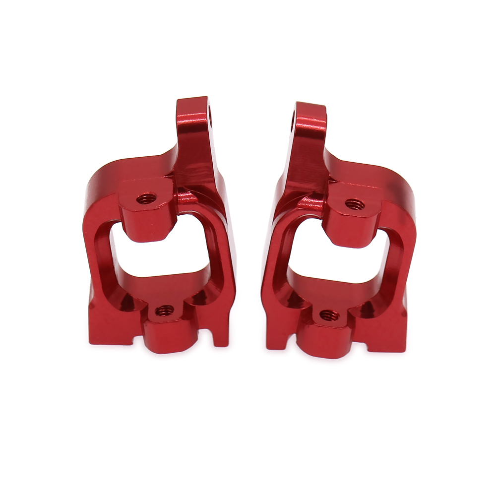 2PCS Front C Hub Carrier Alloy Aluminum For Rc Hobby Model Car 1/14 Lc Racing Full Series Front Hub Carrier BE6038 Parts Buggy 1 5 1 6 traxxas x maxx caster blocks front c hub carrier left right for rc hobby car 7732 brushless electric monster truck