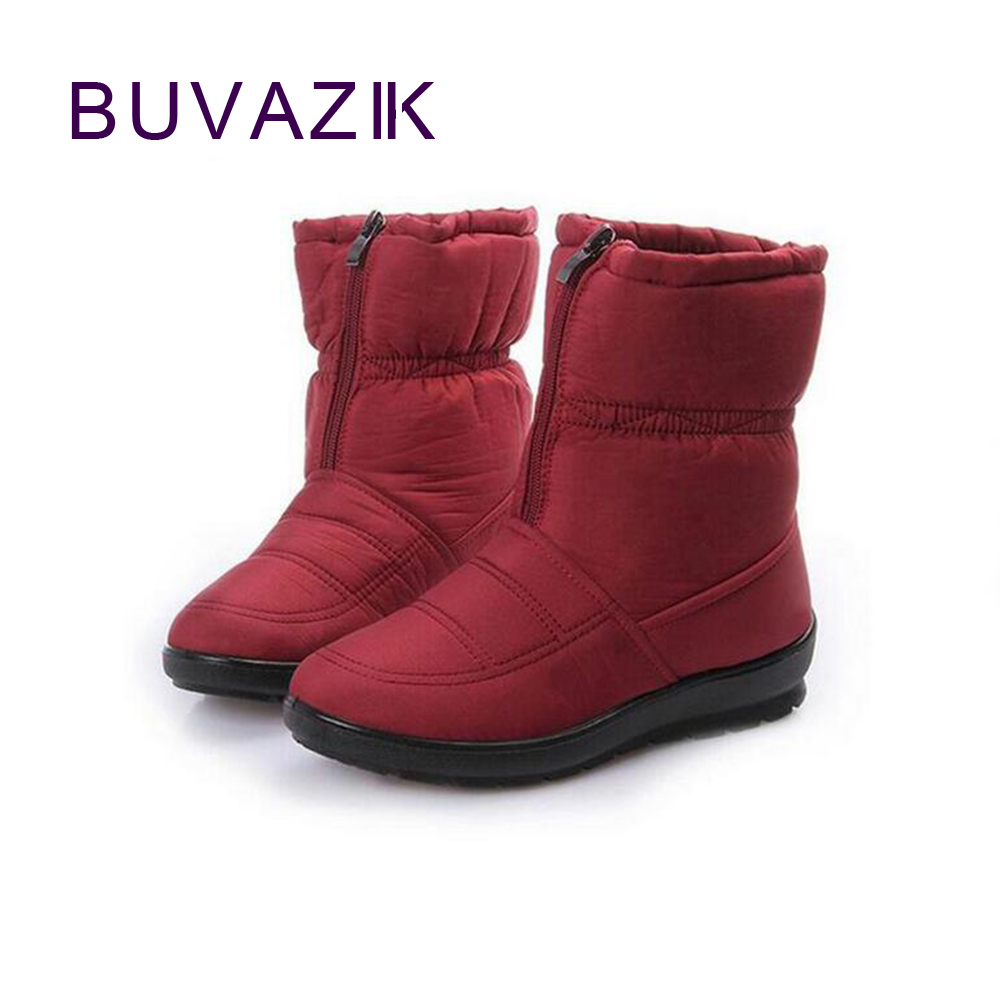 new arrival snow boots women winter waterproof anti skid cotton boots big size 42 warm non-slip shoes for woman outside footwear