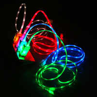 USB Luminous Cable LED Lighting Cable For iPhone Charger Micro USB Electric Wire Mobile Phone Charge Cables For Samsung LG HTC