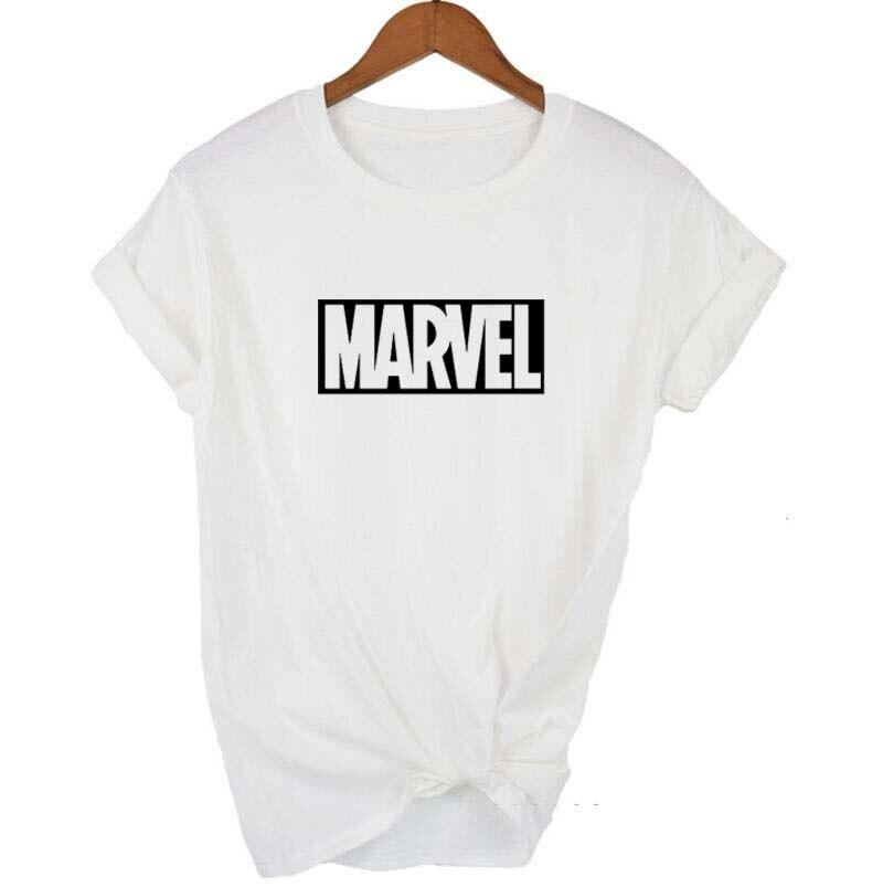 New Fashion 2018 MARVEL   t  -  Shirt   woman cotton short sleeves Casual male tshirt marvel   t     shirts   tops tees plus size