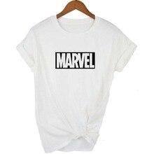 New Fashion 2018 MARVEL t Shirt woman cotton short sleeves Casual male tshirt marvel t shirts